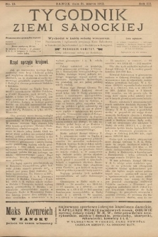 Tygodnik Ziemi Sanockiej. 1912, nr13