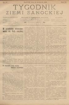 Tygodnik Ziemi Sanockiej. 1912, nr16