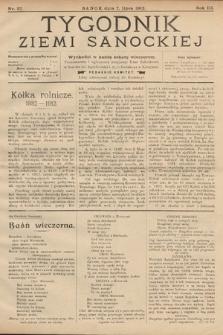 Tygodnik Ziemi Sanockiej. 1912, nr27