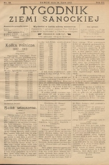 Tygodnik Ziemi Sanockiej. 1912, nr28