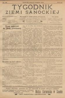 Tygodnik Ziemi Sanockiej. 1912, nr36