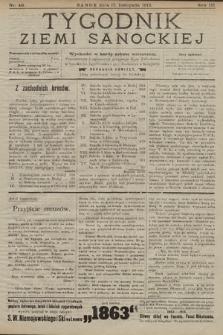 Tygodnik Ziemi Sanockiej. 1912, nr46
