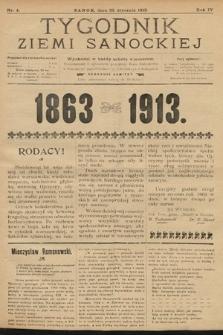 Tygodnik Ziemi Sanockiej. 1913, nr4