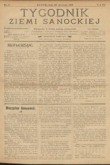 Tygodnik Ziemi Sanockiej. 1913, nr5