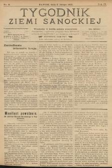 Tygodnik Ziemi Sanockiej. 1913, nr6