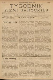 Tygodnik Ziemi Sanockiej. 1913, nr11