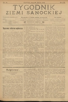 Tygodnik Ziemi Sanockiej. 1913, nr14