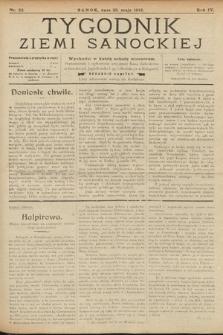 Tygodnik Ziemi Sanockiej. 1913, nr22