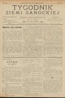 Tygodnik Ziemi Sanockiej. 1913, nr33
