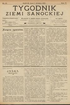 Tygodnik Ziemi Sanockiej. 1913, nr37