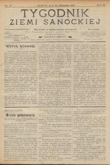 Tygodnik Ziemi Sanockiej. 1913, nr47