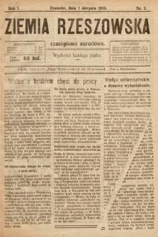 Ziemia Rzeszowska : czasopismo narodowe. 1919, nr3