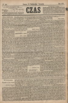 Czas. [R.28], Ner 235 (14 października 1875)