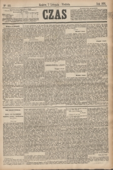 Czas. [R.28], Ner 255 (7 listopada 1875)