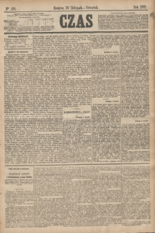 Czas. [R.28], Ner 270 (25 listopada 1875)