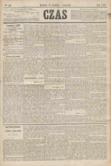 Czas. [R.28], Ner 293 (23 grudnia 1875)