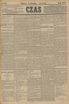 Czas. [R.36], Ner 190 (23 sierpnia 1883)