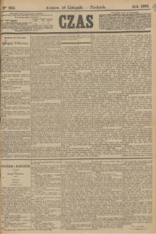 Czas. [R.36], Ner 263 (18 listopada 1883)