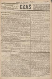 Czas. [R.37], Ner 218 (21 września 1884)
