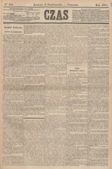 Czas. [R.37], Ner 233 (9 października 1884)