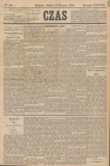 Czas. R.38, Ner 185 (15 sierpnia 1885)