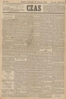 Czas. R.38, Ner 188 (20 sierpnia 1885)