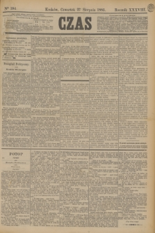 Czas. R.38, Ner 194 (27 sierpnia 1885)