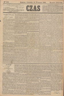 Czas. R.38, Ner 205 (10 września 1885)