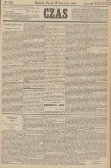 Czas. R.38, Ner 206 (11 września 1885)