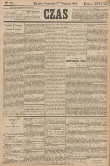 Czas. R.38, Ner 211 (17 września 1885)