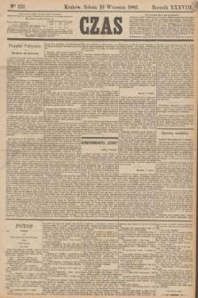 Czas. R.38, Ner 213 (19 września 1885)