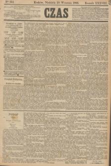 Czas. R.38, Ner 214 (20 września 1885)