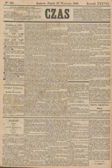 Czas. R.38, Ner 218 (25 września 1885)