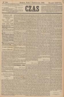 Czas. R.38, Ner 228 (7 października 1885)