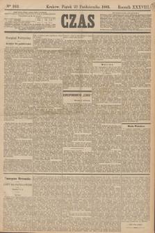Czas. R.38, Ner 242 (23 października 1885)