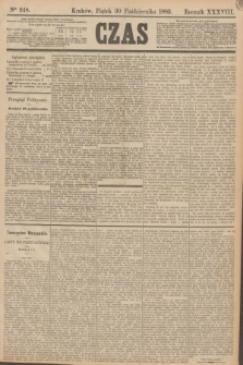 Czas. R.38, Ner 248 (30 października 1885)