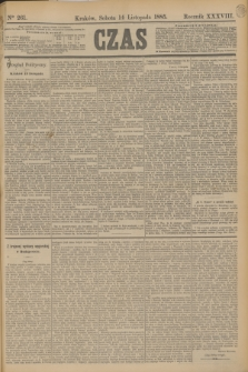 Czas. R.38, Ner 261 (14 listopada 1885)