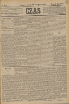 Czas. R.38, Ner 273 (28 listopada 1885)