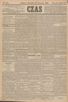 Czas. R.38, Ner 274 (29 listopada 1885)