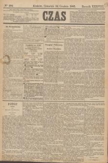 Czas. R.38, Ner 294 (24 grudnia 1885)