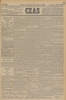 Czas. R.38, Ner 296 (29 grudnia 1885)