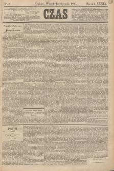 Czas. R.39, Ner 8 (12 stycznia 1886)