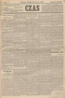 Czas. R.39, Ner 34 (12 lutego 1886)