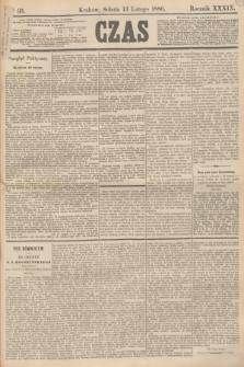 Czas. R.39, Ner 35 (13 lutego 1886)