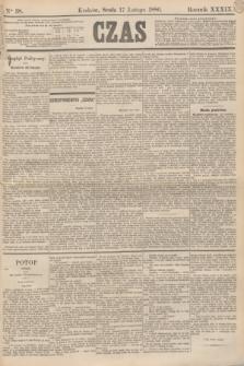 Czas. R.39, Ner 38 (17 lutego 1886)