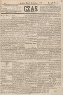 Czas. R.39, Ner 40 (19 lutego 1886)