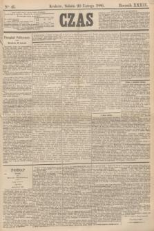 Czas. R.39, Ner 41 (20 lutego 1886)