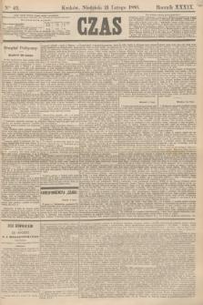 Czas. R.39, Ner 42 (21 lutego 1886)