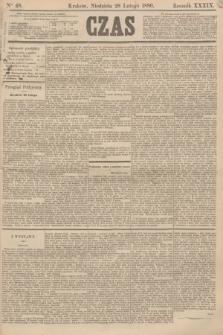 Czas. R.39, Ner 48 (28 lutego 1886)