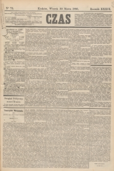Czas. R.39, Ner 72 (30 marca 1886)